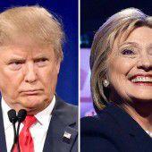 Trump und Clinton als strahlende Gewinner