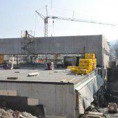 Hochbau für neue Turnhalle abgeschlossen