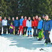 Skifahrer mit eigener Sportstätte