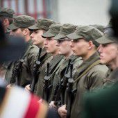 Angelobung neuer Rekruten in Bregenz