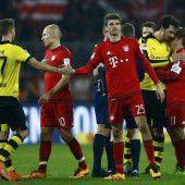Die Bayern hielten Dortmund auf Distanz
