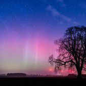 Polarlichter leuchten über Deutschland