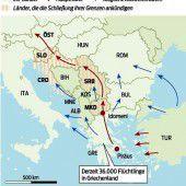 Die Balkan-Route ist nun faktisch geschlossen