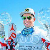 Skiweltcupsieger Marcel Hirscher im Kugel-Glück