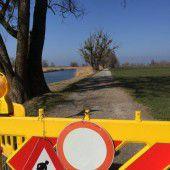 Brücke am Grünen Damm noch nicht fertig