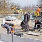 Auffrischung der Rheinauen für neue Saison