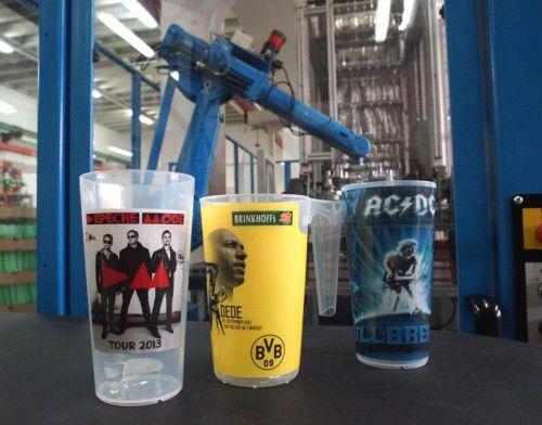 Die Becher der Fries-Tochterfirma Cup Concept kommen bei Großevents im Sport- und Kulturbereich zum Einsatz.Fa