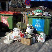 Ärger an der Müllstation