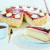 Feine Himbeer-Karamell-Torte