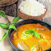 Nationalgericht Curry mit Reis