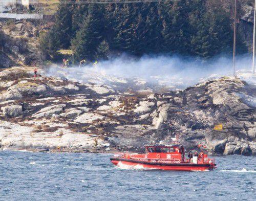 Der Helikopter war auf dem Heimflug von einer Bohrinsel in der Nordsee, als er vor Norwegens Westküste aus nicht bekannten Gründen abstürzte.
