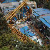 18 Tote bei Einsturz von Kranbrücke in Südchina