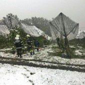 Schnee sorgt im Süden Österreichs für Chaos