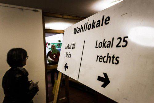 Die Bewohner der Bregenzer Achsiedlung wählen in den Sprengeln 25 und 26 im Kindergarten an der Ach.