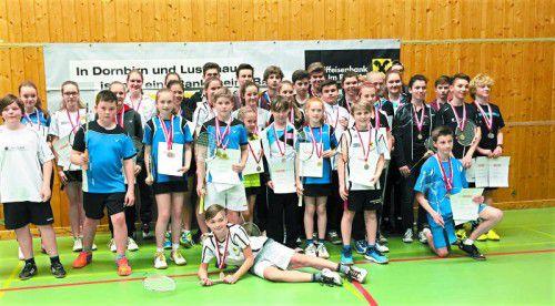 Die Medaillengewinner bei der Nachwuchs-Landesmeisterschaft in Dornbirn.