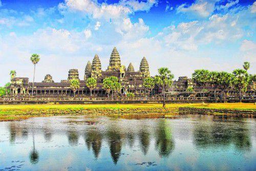 Die Tempelanlage Angkor Wat lockt viele Touristen nach Kambodscha.