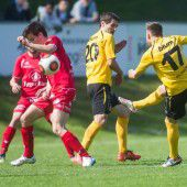Fußball, Vorarlbergs Ligen im Überblick – Vorarlbergliga bis 5. Landesklasse (16. Spieltag)