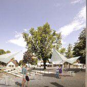 Neuer Belag für den Emser Schlossplatz