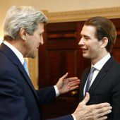 Kurz trifft Kerry in Washington