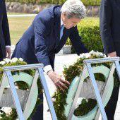 Kerry gedenkt in Hiroshima der Opfer