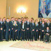 Schairer und Hämmerle mit ÖSV-Abordnung bei Papst Franziskus