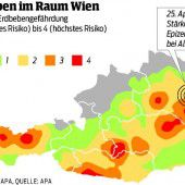 Erdbeben der Stärke 4,1 im Osten Österreichs