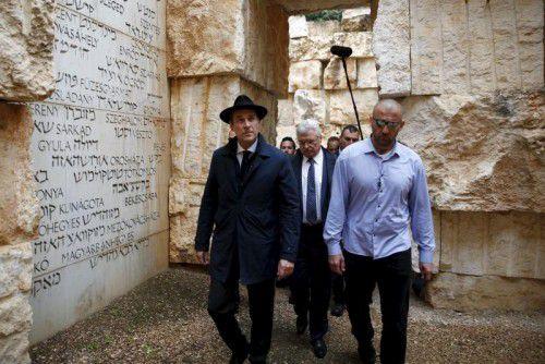 FPÖ-Chef Strache bei seinem Besuch in Jerusalem.
