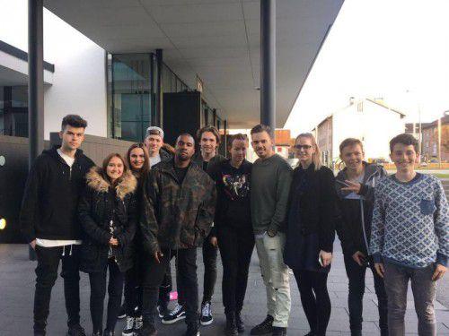 Kanye West fühlte sich in Bregenz wohl. Der als schwierig geltende Star war gar nicht zickig beim Fan-Foto.