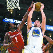 Golden State gewinnt auch ohne Curry