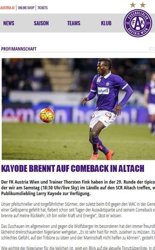 Larry Kayode hat sich für Altach viel vorgenommen.