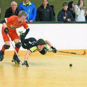 Rollhockeyspieler in Schweizer Liga vorne