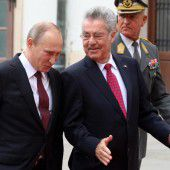 Lange Tagesordnung für Heinz Fischer in Moskau