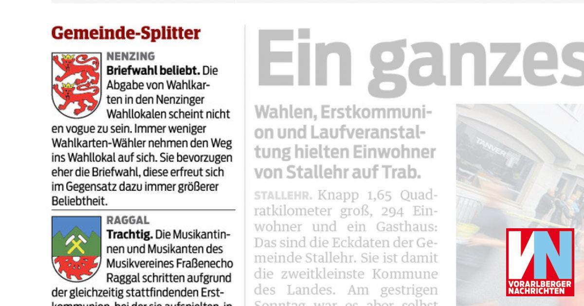 NachrichtenVn NachrichtenVn Gemeinde Splitter Gemeinde Splitter Vorarlberger Gemeinde at Vorarlberger at Splitter kiuXZOTP