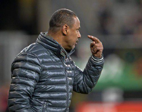 Trainer Lassaad Chabbi ist stets äußerst fokussiert.