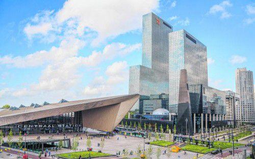Äußerst sehenswert ist auch der moderne Hauptbahnhof von Rotterdam.