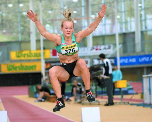 Ausnahmetalent Sarah Lagger zeigt erstmals beim Hypomeeting in Götzis in einem Elite-Wettkampf ihre Qualitäten.