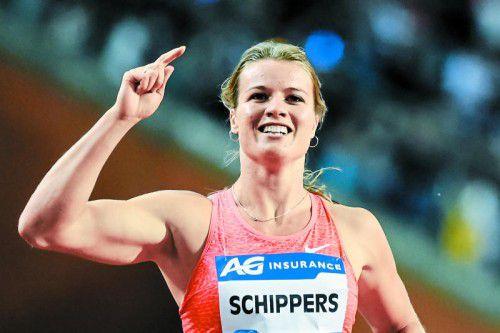 Dafne Schippers ist beim Auftakt der Diamond League in Doha die schnellste Dame im Feld.