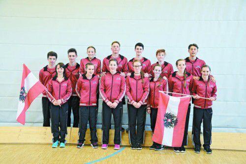Das ausschließlich aus Vorarlberger Aktiven bestehende rot-weiß-rote EM-Team.