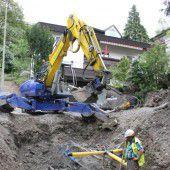Kanalarbeiten in der Halde sind angelaufen