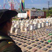 Mehr als acht Tonnen Kokain beschlagnahmt