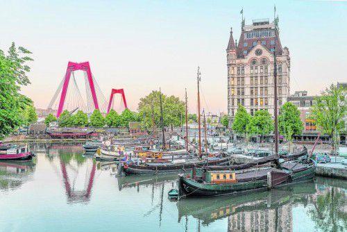 Der alte Hafen von Rotterdam lädt zum Herumschlendern ein.
