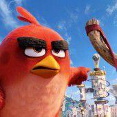Böse Vögel auf der Leinwand
