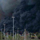 Feuer auf illegaler  Mülldeponie in Spanien