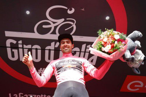 Der Niederländer Tom Dumoulin ist neuer Leader beim Giro.