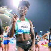 Bowie lief in Doha schneller als Schippers