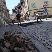Leitungsbau am Domplatz in Feldkirch fertig