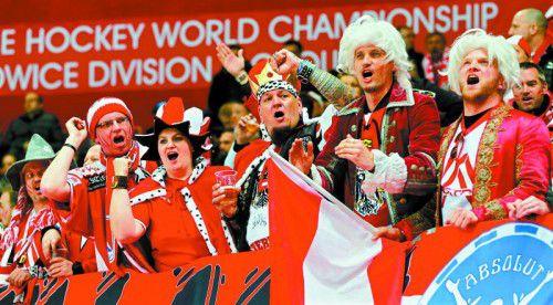 Die österreichischen Eishockeyfans möchten das Nationalteam demnächst wieder in der A-Gruppe sehen.