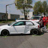 Zwei Verletzte bei Kollision in Lauterach