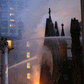Kathedrale geht in Flammen auf