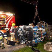 Gestohlenen Kleintransporter in Schrott verwandelt